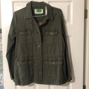 Anthropologie Army Green Sweater  back jacket (S)